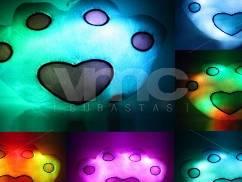 130 Almohadas LED Corazón Cuadrado Huella